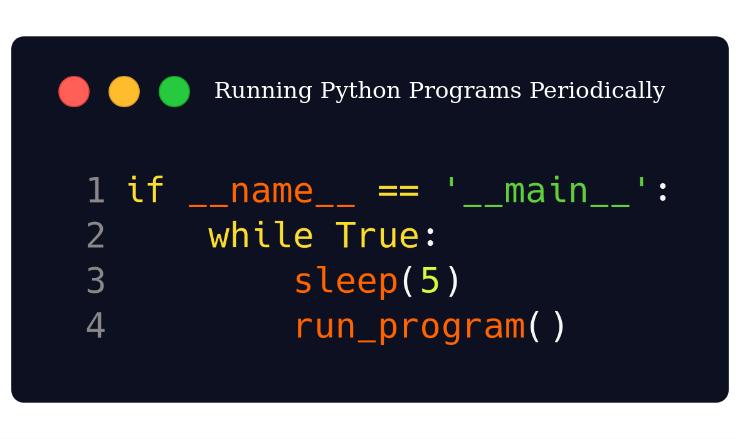 Periodically running python programs
